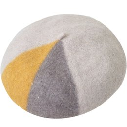 Nuovo berretto multicolore per berretti da donna in lana vergine con cappuccio per pittore, berretto invernale in feltro, berretto invernale in lana da donna da