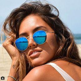 Pequeno rodada óculos de sol das mulheres retro vintage óculos de sol para  homens de metal moldura designer de marca de luxo espelho pontos rosa óculos  UV 8f240ccc5c