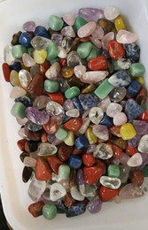 Wholesale natural gemstone agate - 1 lb assorted tumbled gemstone mixed stones natural rainbow amethyst aventurine colorful rock mineral agate for chakra healing reiki