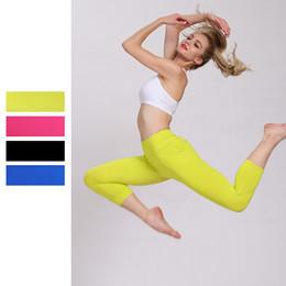 2019 stretti pantaloni yoga sexy Pantaloni Yoga sexy Donne elastiche nello sport, asciugatura rapida Calzamaglia elastica Leggings Pantaloni da jogging Fitness Fitness Running stretti pantaloni yoga sexy economici