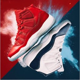 Wholesale Vintage Totem - Vintage shoes 11 PRM Premium Heiress black Stingray gold Retro 11s Gym red Win like 82 Basketball Shoes Men Women sports Sneakers 5-13