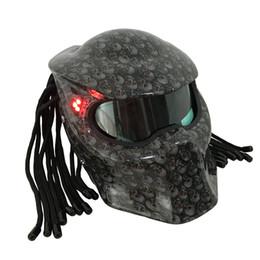 Capacete de crânio completo on-line-Nova Masei Crânio Brilhante camuflagem capacete s máscara de Fibra De Vidro da motocicleta padrão águia capacete Motor cheio de cara
