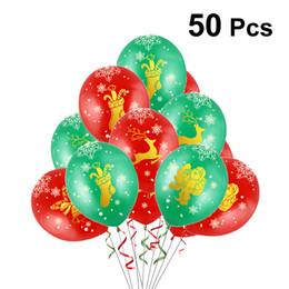 Рождественские шары праздник латекс печатных шаров украшения для торгового центра Office Bar Home Hotel от