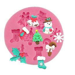 Deutschland 2018 Silikon-Kuchen-Formen DIY Plätzchen-Süßigkeit-Weihnachtsformen Silikon-Bakeware-Weihnachtsbaum-Strumpf-Schneeflocken geformte Backen-Küchen-Werkzeuge Versorgung