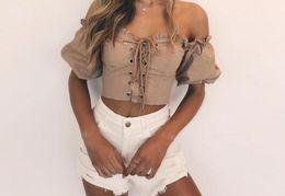 T-shirt de culture sans bretelles avec volants sexy à la mode Femme Streetwear élastique Bandage Chest Shirt ? partir de fabricateur