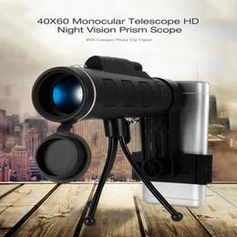 2019 teleskop monokular für telefon 40X60 HD Mini Tag und Nachtsichtgerät Teleskop mit Stativ Telefon Clip Handheld Optische Monokular Outdoor Camping B günstig teleskop monokular für telefon