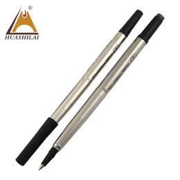 Gelhersteller online-Blau Schwarz Hersteller Großhandel glatt gutes Schreiben Signatur Gel Roller Pen Refill mit Sicherheitstinte für Metallstift