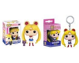 Wholesale sailor moon action figures - FUNKO POP Animation Sailor Moon & Luna Vinyl Action Figure With Box #89 Toy Gify Doll Good Quality