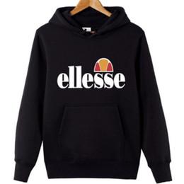 Roter hoodie 4xl online-Marke Männer Langarm Hoodies Ellesse Pullover Mode Lässig Hoodie Schwarz Rot Designer Sweatshirts Männlichen Plus Größe S-4XL