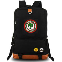 Wholesale Leather Canvas Rucksack - Nigeria national team backpack Cool man day pack Football school bag Soccer packsack Quality rucksack Sport schoolbag Outdoor daypack