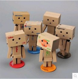 Wholesale Japanese Anime Characters - 2017 japanese 10 Style anime New Lovely Danboard PVC Action Figure Danbo Doll Mini 8cm P Toy with LED light
