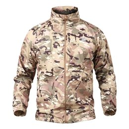 Summer Tactical Navy Seal Chaqueta de camuflaje ligero Hombres Impermeable Thin Hood impermeable Windbreaker Army Skin Chaquetas desde fabricantes