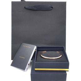 manschette s Rabatt Nie verblassen DW Armbänder Roségold Silber Voll Edelstahl Damen Herren Manschette Bangle Originalverpackung Taschen Set