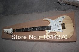 Wholesale Electric Guitar Natural Color - Free shipping wholesale DiMarzio pickup IBA jem 7v natural color electric guitar with tremolo guitar china2018