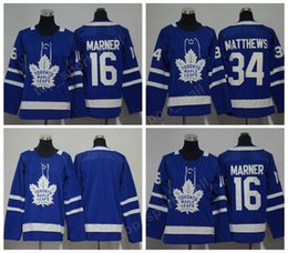 Wholesale Gold Leafs - 2018 Toronto Maple Leafs Jersey Men 16 Mitchell Marner 34 Auston Matthews Youth Ice Hockey Jerseys Women Kids Man Woman Blue White
