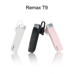 2019 prix mini iphone Original Remax T9 Bluetooth Casque 4.1V Sans Fil Mini Casque Écouteur Sport En Plein Air Stéréo Écouteur Avec Micro Pour IPhone Meilleur Prix promotion prix mini iphone