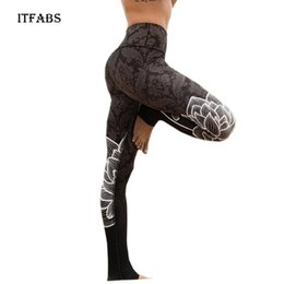 Wholesale Womens Compression Pants - ITFABS Sexy Womens Running Yoga Pants Fitness Leggings Gym Sports Compression Trousers calzas deportivas mujer fitness