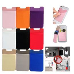 Новый эластичный лайкра мобильный телефон кошельки кредит ID карты держатель карманный клей наклейка для iPhone x 8 6 6 S 7 Plus Samsung supplier wallet elastic от Поставщики эластичный кошелек