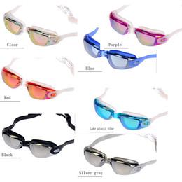 occhiali blu rossi adulti Sconti Fashion 7 colori Occhiali in silicone super clear 100% UV Occhiali da nuoto impermeabili per uomini e donne occhiali da nuoto.