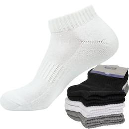 Calcetines calientes online-3 pares de mujeres de los hombres Toalla entera Terry calcetines de invierno cálido calcetines de algodón calcetines invisibles gruesos boca baja No Mostrar Meias