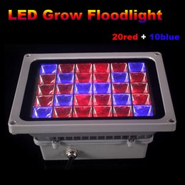 new led grow lights 2018 - wholesale NEW 90W LED floodlight Grow Light Hydroponic flowers Greens plant growing oudoor lamp AC85~265V waterproof x 10pcs