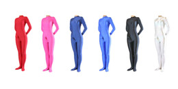 Wholesale zentai silver - Wholesale- Lycra Spandex Zentai Catsuit Unitard Bodysuit with Penis Sheath