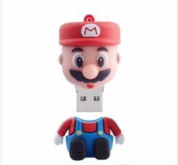 Super Mario USB 2.0 Flash Drive Lápiz Dirve U-Disk Thumb Drive Memory Stick 32GB 16GB desde fabricantes