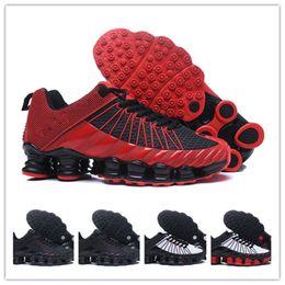 fcaae2610e4a1c 2018 Shox Tlx Men Running Shoes Zapatillas Shox Tlx Designers Shoes Mens  New Outdoor Walking Kpu Sneakers Airs Cushion Sizes Eu40-46