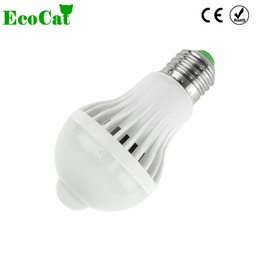 ECO CAT LED lampe E27 ampoule LED 5W 7W 9W 220V Capteur de mouvement PIR Ampoule Lumières Auto Smart Ampoules de Contrôle À Domicile ? partir de fabricateur