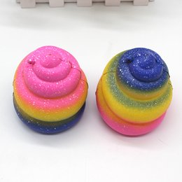 Wholesale Coloured Charms - Stool Squishy Slow Rising Rebound Jumbo Kawaii Squeeze Cute Phone Charm Squishies Starry Sky PU Simulation Colour 9xb V