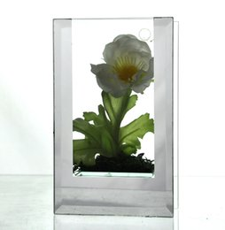 Wholesale Glazed Vases - Small Square High quality mirror double glazing vase beautiful family decoration