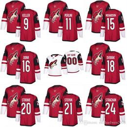 Wholesale Coyote Brown Xl - 2017-2018 Season 8 Tobias Rieder 9 Clayton Keller 10 Anthony Duclair 11 Brendan Perlini Arizona Coyotes Custom Hockey Jerseys