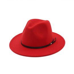 Filles en laine feutre chapeau style Angleterre enfants de jazz chapeau mode filles princesse chapeaux de fête enfants fedora 11 couleurs casquettes à large bord ? partir de fabricateur