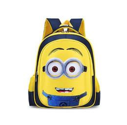 Миньоны фильмы онлайн-Розничная детская игрушка-кукла 1шт / комплект Фильм Плюшевые игрушки 7-дюймовые мини-рюкзаки Детские школьные сумки для мальчиков Школьная сумка Рюкзаки для детей Рюкзаки Мо