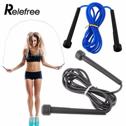 Wholesale Speed Resistance - Relefree 2.5M High Speed Aerobic Steel Wire Skipping Rope Length Adjustable Jump Rope Crossfit Fitness Equipment Skip
