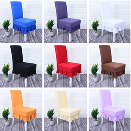 Wholesale room chair covers - Newest Chair Cover Restaurant Hotel Wedding Dining Room Chair Cover Home Decors Seat Covers Spandex Stretch Banquet High Elastic I385