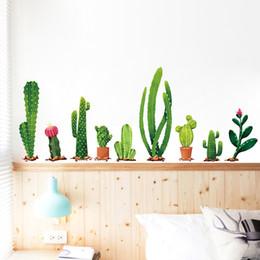 Viele Arten Von Kaktus Green Pflanzen Wandsticker Wohnzimmer Schlafzimmer  Hintergrund Dekoration Wandtattoo Wand Dekor Tapete Günstig Live Cactus  Plants