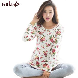 cf6fa33f1e sexy cotton pyjamas 2019 - 2017 New Print Pajamas Pyjama Femme Spring  Autumn Winter Pijamas Women