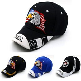 Wholesale usa eagles - Fashion Baseball Cap Embroidery USA Flag Eagle Pattern Snapback Leisure Dome Hat For Men And Women 10 5cy BB