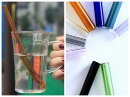 Wholesale wedding drinking glasses - 20cm Reusable Straight Glass Heat Resisting Drinking Straw for Wedding Birthday Party For Water Milk Juice DDA445