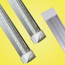 pieds de tube Promotion T8 V en forme de 8ft led tube lumières intégrées 2ft 3ft 4ft 5ft 6ft 8 pieds porte de refroidisseur allumant double rangée magasin lumières tubes luminaire fluorescent