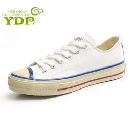 d6309f7c23257 YDP Novas Mulheres Sapatilhas Denim Sapatos Casuais Sapatas de Lona  Sapatilhas Formadores Lace Up Feminino Branco Sapatos de Mesa Zapatillas  Mujer lona ...
