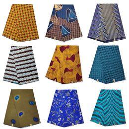 2019 blocos de tecido Bloco de cera africano imprime 100% algodão tecido ancara Africano java cera tecidos estampados 6 metros para o vestido de festa XF102238 desconto blocos de tecido
