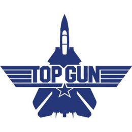 Wholesale Vinyl Car Tops - For Top Gun Vinyl Car Pad Laptop Window Wall Bumper Sticker Auto Cool Graphics Car Sticker