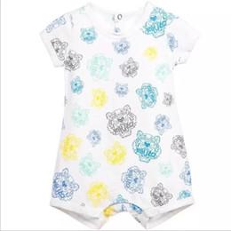 Meninos pijamas calções de algodão on-line-2018 novas crianças pijamas macacão de bebê de manga curta roupas de bebê recém-nascido roupas íntimas de algodão traje meninos meninas verão macacão