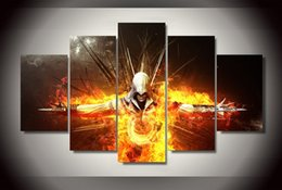assassin figures Coupons - Poster Hot Assassins Creed Game figure Group pictures Living Room Wall Decoration Painting Modern Printed On Canvas