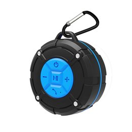 Wholesale Mp3 Bicycle Speakers - CS618 Waterproof Outdoor Bluetooth Speaker Portable Wireless Subwoofer Loudspeaker Shower Bicycle Speakers with Suction Cup for Iphone 8 X