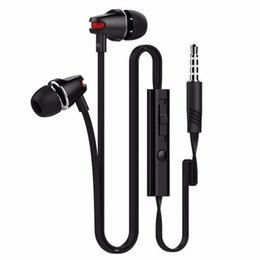 Wholesale Phone Express - Langstom JV23 Express Wired Earphone Noise Cancelling with Microphone for Iphone Xiaomi phone Portable Flat wire Handfree with retail box