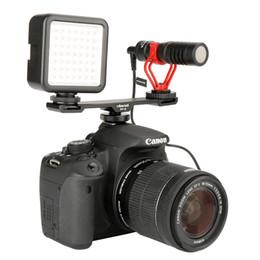 Canada Ulanzi Cold Shoe Bar Extension Mount Support 1/4 '' Vis Pour Nikon Canon Pentax Sony DSLR Caméras LED Vidéo Microphone cheap screw mount led Offre