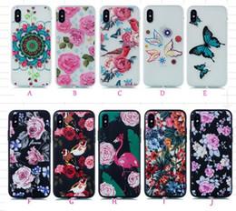 samsung j2 telefone Rabatt Blumen-Schmetterlings-weicher TPU-Kasten für Galaxie-Anmerkung 9 S9 Plus (J2 Pro-J8 A8 J3 J7) 2018 Blumenrosen-Vogel-Karikatur-Flamingo-Blumenluxus-Telefon-Abdeckung